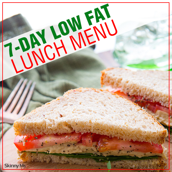 7 Day Low Fat Lunch Menu Live Fitness