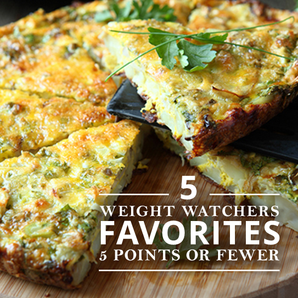 5 Weight Watchers Favorites for 5 Points or Fewer